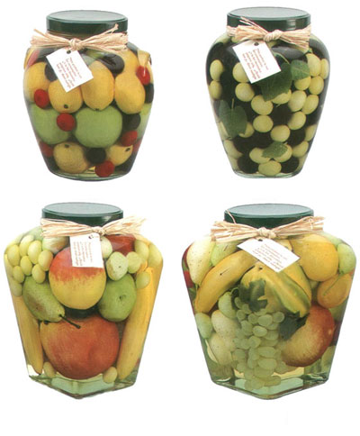 Artificial Fruit And Vegetable Decorative Preserves Jar Artificial Fruit And Vegetable