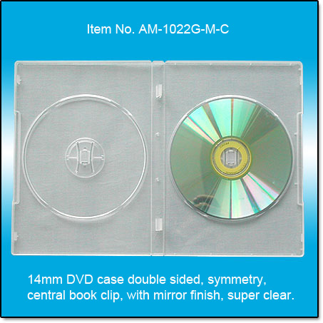 14mm DVD case double,mirror finish
