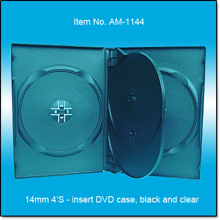 14mm DVD case 4's with insert