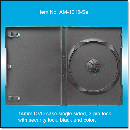 14mm DVD case single side with security