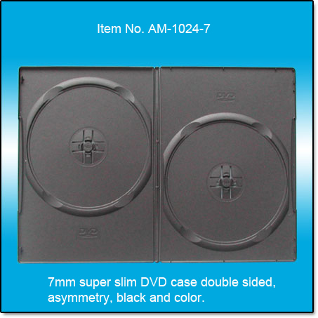 super slim 7mm DVD case double sided