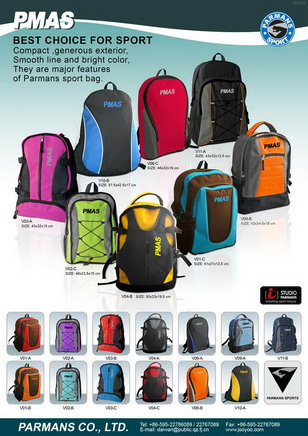 Sports Backpack from Taiwan Parmans