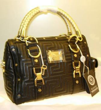 Versace Handbags LOGO QUILTED LEATHER BAG