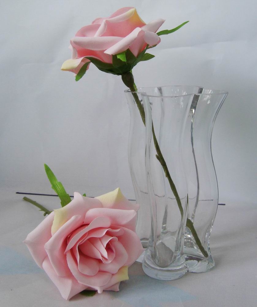 Artificial silk flower single rose pink artificial silk flower artificial silk flower single rose pink mightylinksfo