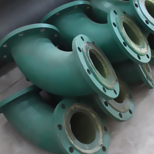 Polyurethane lined steel pipe chemical pi