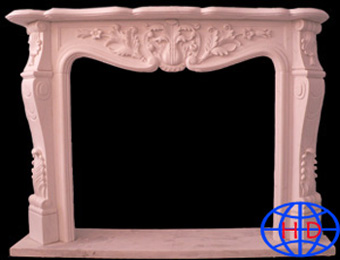 stone fireplace carving