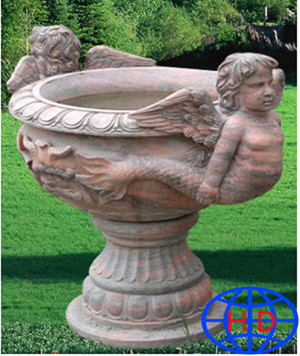 stone flowerpot carving
