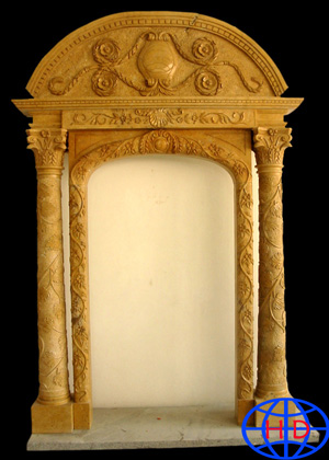 stone doorframe carving