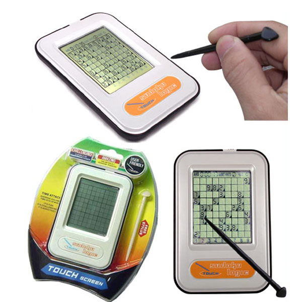 Sudoku puzzle with touch screen