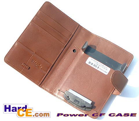 Battery Leather CASE with CF II slot for iPAQ