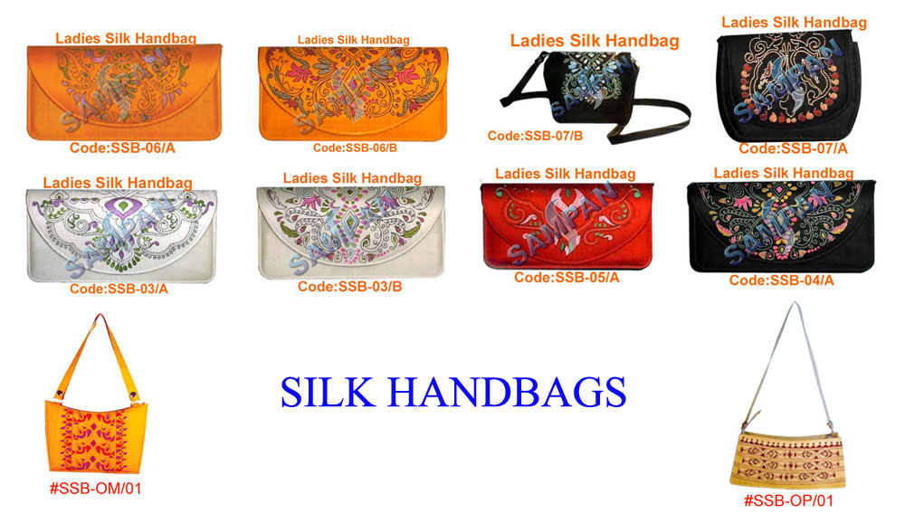 MADE UPS/SILK BAGS/GLASS BEADED JWELLERY