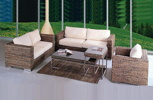 rattan table chairs 2