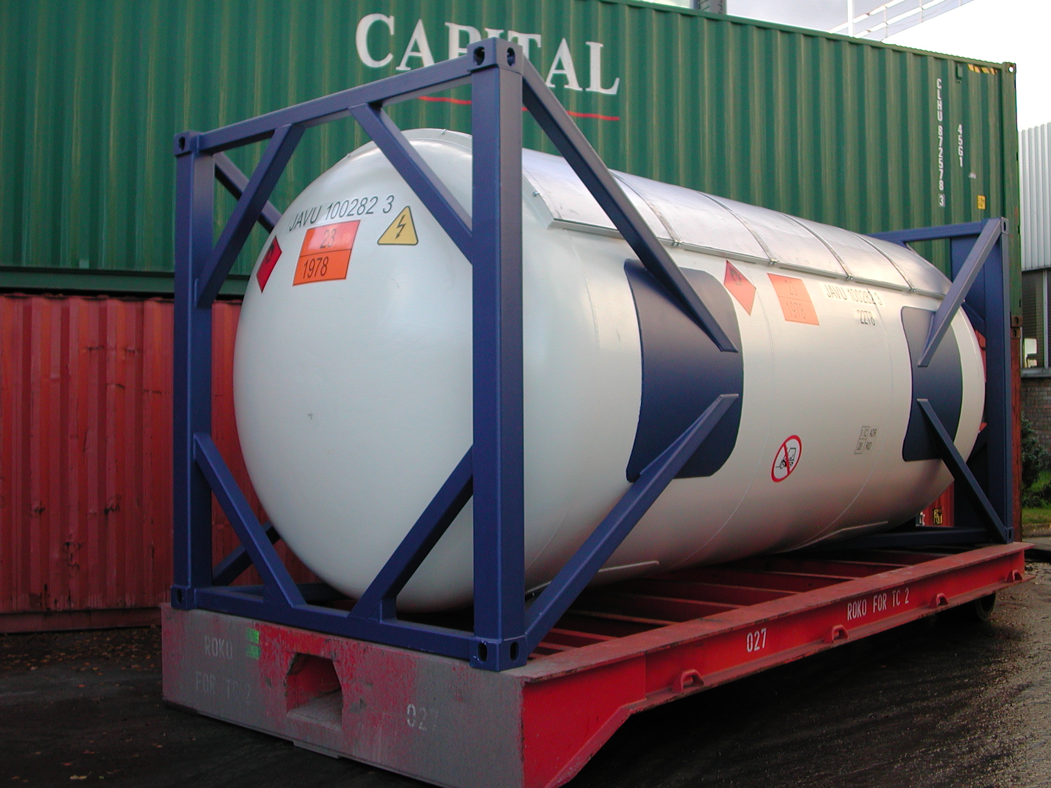 Iso tank container type un t50 imo5 iso tank container for Un container