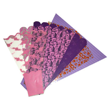 flower sleeves and flower wrapping sheets
